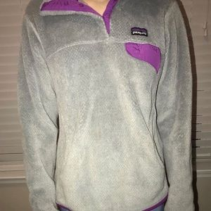 Grey and pink Patagonia pullover
